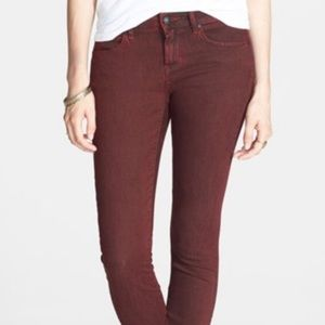 Articles Of Society Mya Rich Red Skinny Jeans